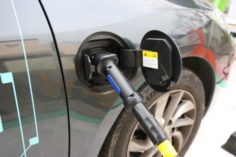 electric car charging station, electric car charging