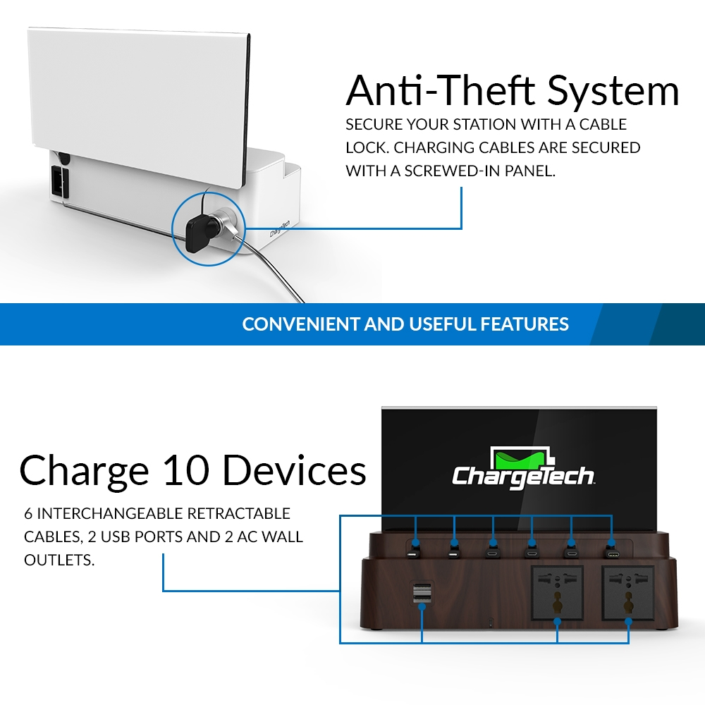 Power Strip Charging Station Cs8 Charge 10 Devices Chargetech Usb Powered Mobile Phone Charger Circuit Diagram