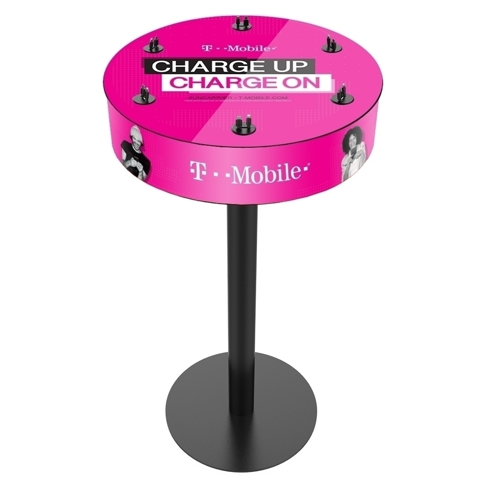 Pink Charge Table from T-Mobile