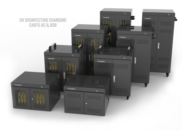 UV Disinfecting Charging Carts